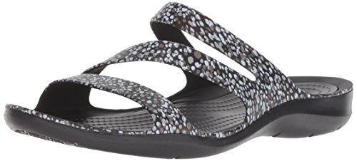 Crocs Women's Swiftwater Graphic W Sport Sandal, Pink Floral, Delete