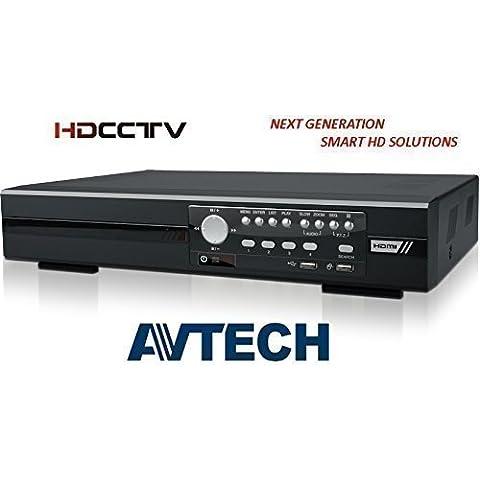 AVTECH TVCC HD DVR DG1004 1080P HDTVI Registratore 4 Canali HD-TVI Alta Risoluzione 4CH HDMI NO HDD