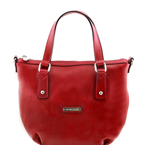 Tuscany Leather Olga - Borsa shopping in pelle Rosso Borse donna a mano in pelle Rosso