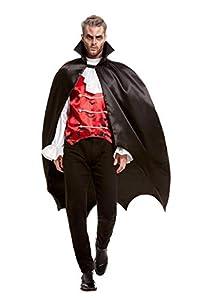 Smiffys 52148 - Capa de murciélago de vampiro, talla única, color negro