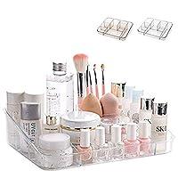 SUNFICON Cosmetic Display Case Makeup Organizer Tray