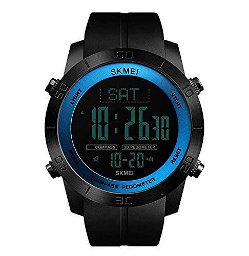Herren Kompass Sportuhr Schrittzähler Kalorien Uhr Wasserdicht Digital Armbanduhr