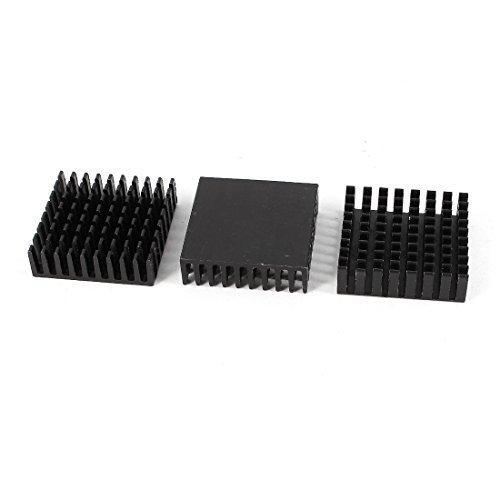 3Pcs Aluminium Kühlkörper Kühler 35mm x 35mm x 10mm für PC Motherboard Chipsatz de