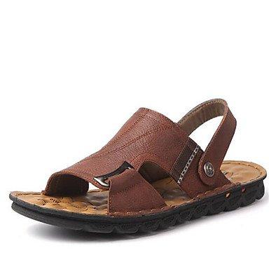 Uomini sandali estivi Casual scamosciato tacco piatto marrone nero kaki Brown