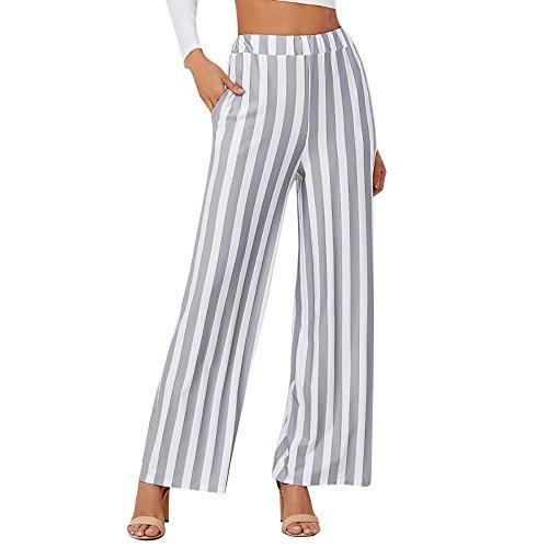 UFACE Damen Haremshose Damen Damen Hosen Sommerhosen Damen Hosen Damen Weiße Hose Jeans Damen Sexy Hohe Taille Streifen Print Floral Weites Beinhosen
