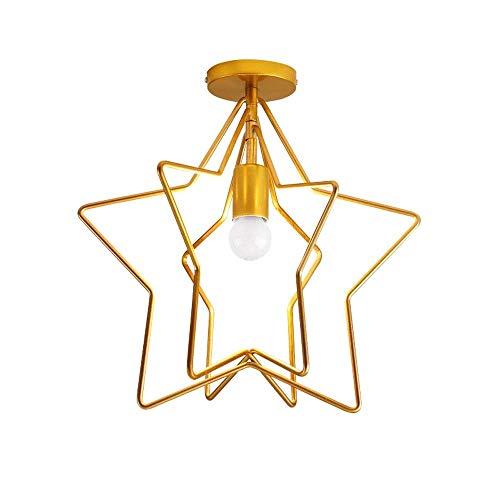Magosca Deckenleuchte Kreative Pentagramm Amerikanischen Mini Einbau E27 Deckenleuchte Drehbaren Winkel Moderne Mode Kupfer Deckenleuchte Dekoration For Wohnzimmer Veranda Mall