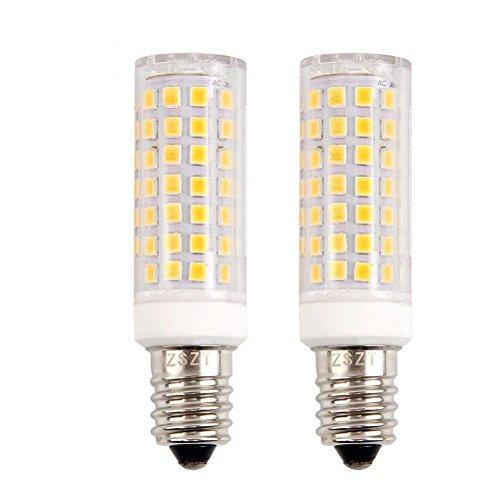 E14 LED Glühlampe 9W 700LM, 75W Halogenlampen Ersatz, Warmweiß 3000K, 360° Abstrahlwinkel, Dunstabzugshaubenlampe Nähmaschinenlampe Wandlampe (Warmweiß)