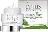Lotus Herbals Whiteglow Skin Whitening And Brightening Gel Cream, SPF-25, 40g