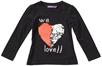 desigual abril t shirt manches longues fille noir schwarznegro fr 12 ans taille. Black Bedroom Furniture Sets. Home Design Ideas