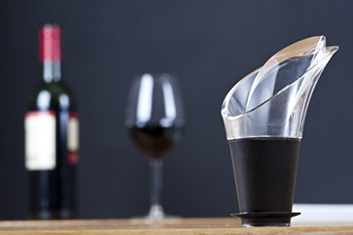 Vacu Vin Weinausgießer 2er Set schwarz Ausgießer, Kunststoff, 18x4x4 cm