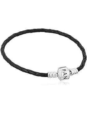 Pandora Leder-Armband Schwarz 590705CBK-S