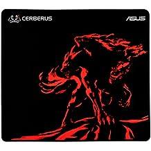 Asus Cerberus Mat Plus - Alfombrilla gaming con textura de superficie consistente, goma natural antideslizante y costuras anti-deshilachadas