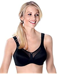 e8d35244e4 Anita Care 5728X-001 Valentina Black Non-Padded Non-Wired Mastectomy Bra
