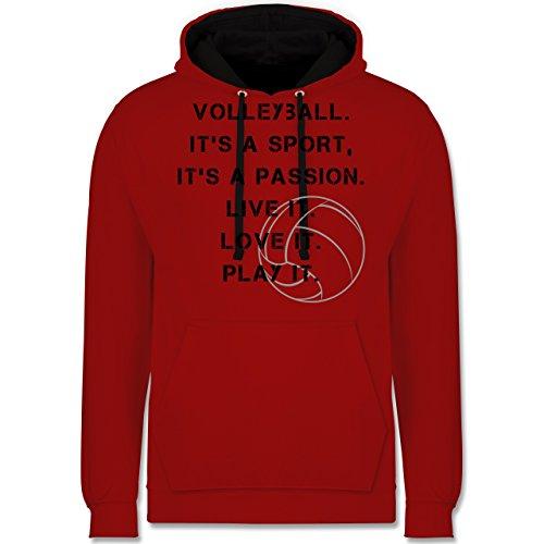 Volleyball - Volleyball Statement - Kontrast Hoodie Rot/Schwarz