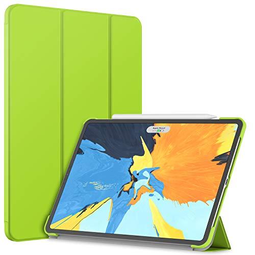 JETech Funda iPad Pro 11 Pulgadas (Pantalla de Retina Líquida de Borde a Borde de Lanzado en 2018), Compatible con Apple Pencil, Smart Cover Auto-Sueño/Estela (Verde)