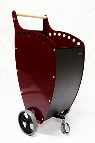 Chariot à bois de chauffage et pellets avec roues 200mm
