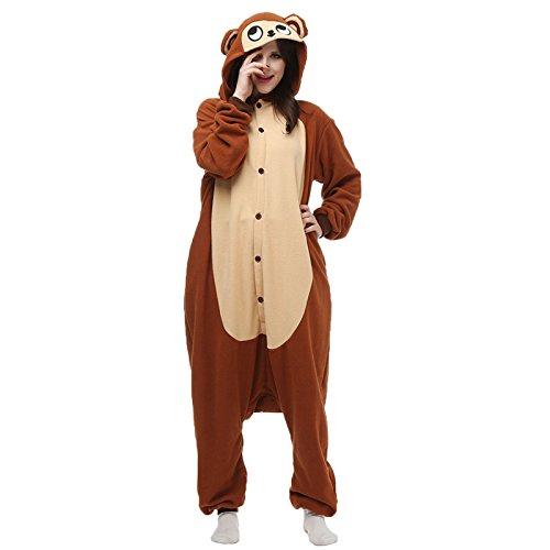 Costume Adulto Pigiama Donna Uomo Divertente Animali Stagione Moda Scimmia Small