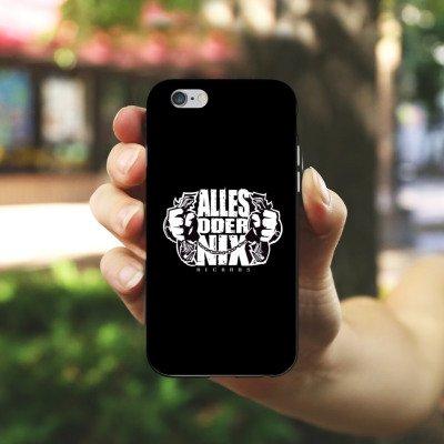 Apple iPhone X Silikon Hülle Case Schutzhülle Xatar Fanartikel Merchandise Alles Oder Nix Silikon Case schwarz / weiß
