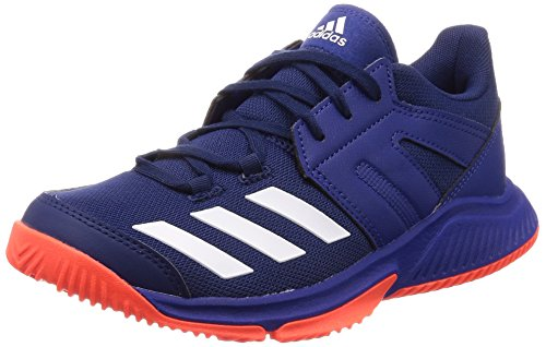 adidas Herren Essence Handballschuhe, Blau (Azuosc/Ftwbla/Rojsol 000), 43 1/3 EU