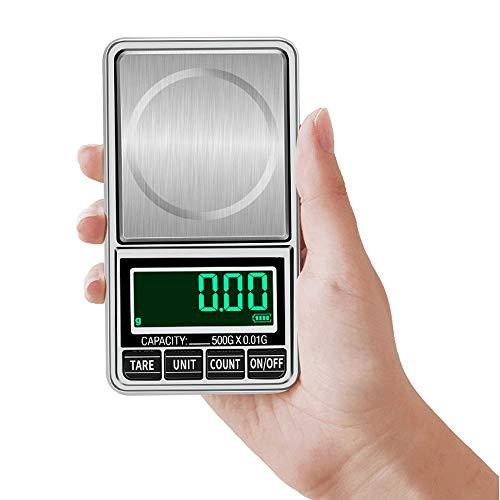 HDLHG Tragbare elektronische Waage USB steckbare Digitale Tasche Mini elektronische Haushaltswaage Elektronische Waage mit Einem Gewicht von 0,01 g g (300 g / 0,01 g + USB-Kabel) - Rot Heavyweight Tee