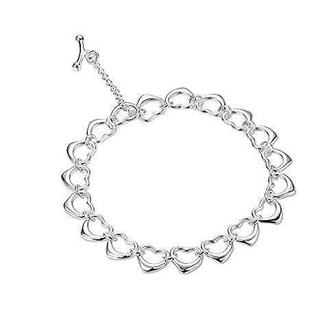 New Fashion Jewelry NYKKOLA Hot vente de Bracelet en argent massif 925