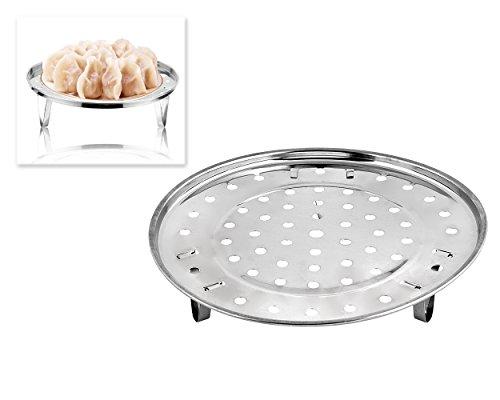DSstyles Edelstahl Dampfgarer Dünsteinsatz (8.5 Inches) Dämpfeinsatz für Kochtöpfe Chinese...
