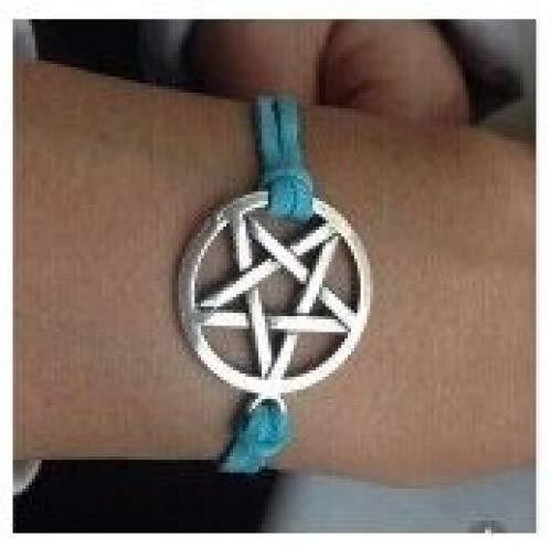 Pagan-/Wicca-Armband mit Pentagramm, Dean Winchester, Supernatural, Drudenfuß,