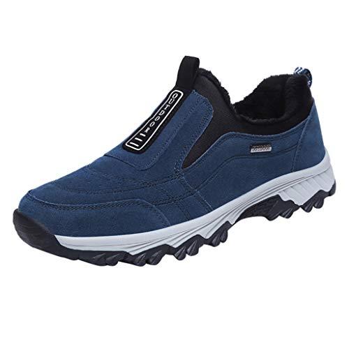 CUTUDE Sommer Herren Damen Paar Gestrickte Socken Laufschuhe Air Atmungsaktive Turnschuhe Mittlerem Absatz Canvas Leichte Wilde Freizeitschuhe (Blau, 43 EU)