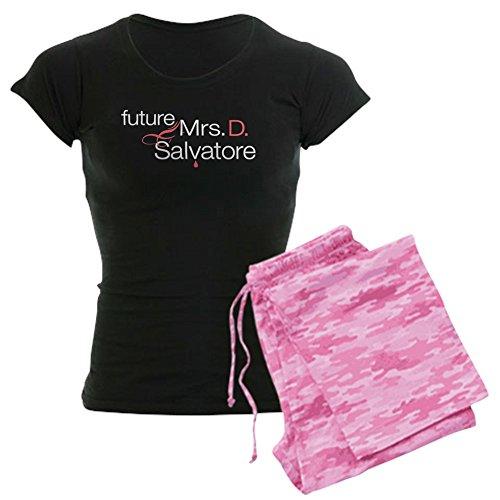 CafePress Damen-Dark Pyjama–Frau Damon Salvatore Damen Dark Schlafanzüge With Pink Camo Pant