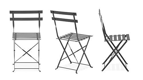 Oviala Lot de 2 chaises Pliantes bistro