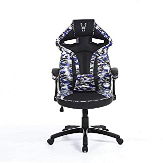Woxter – Stinger Station Army – Silla Gaming/Escritorio Camuflaje, Azul (Pc)