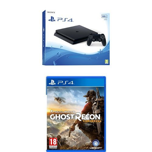 PlayStation 4 Slim (PS4) - Consola de 500 GB + Ghost Recon Wildlands