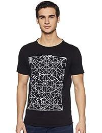 ABOF Men's Printed Slim Fit T-Shirt
