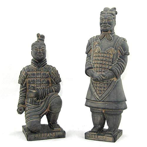 Terrakotta-Krieger fertigt Dekoration, alte chinesische Qin Terrakotta-Krieger Modell China Reise Souvenir Geschenkbox Verpackung Geschenk 2 STÜCKE