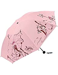 Portable Pratique Petit Femmes Sun Protection Parapluie Rose