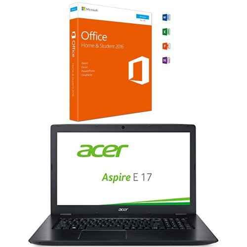 Microsoft Office Home and Student 2016 + Acer Aspire E 17 (E5-774G-505R) 43.9cm (17.3 Zoll HD+) Notebook