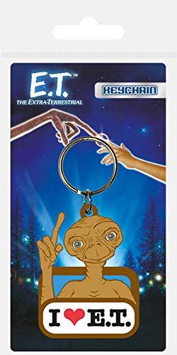 E.T l'extra-terrestre Amour et en caoutchouc Porte-clés, Multicolore, 4.5 x 6 cm