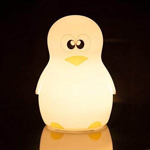 ENFANTS de lumière de nuit LED, Pingouin en Silicone Night Lights Lampe pour enfants
