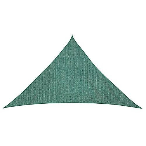 Jarolift Voile d'ombrage | Toile d'ombrage | Voile triangulaire| Tissu respirant | 600 x 420 x 420 cm, vert