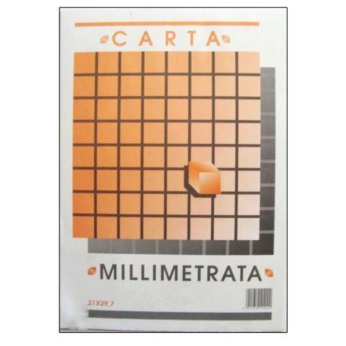 takestop Bloc Papel milimetrado A4álbum picarta Fabrianese Folio 21x 29,7cm 10Hojas 80gr ingegneria Dibujo Escolar