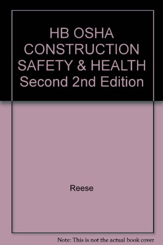 HB OSHA CONSTRUCTION SAFETY & HEALTH Second 2nd Edition