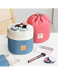 Household Roll N Go Travel Buddy Cosmetic Bucket Barrel Shaped Bag (Bag)