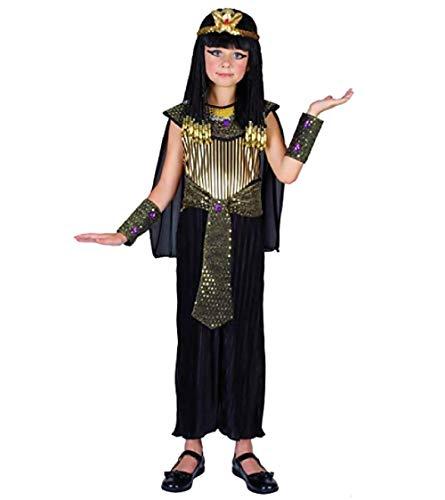 Inception Pro Infinite (Größe L) Cleopatra Kostüm - Ägyptisch - Schwarz - Maskerade - Mädchen - 7 - 9 Jahre - Halloween - Karneval - Partys