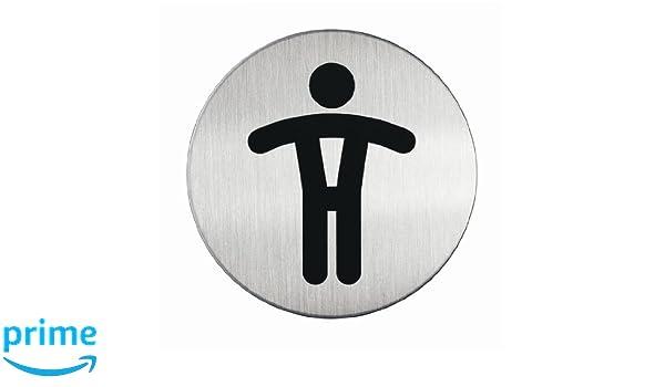 83 mm, kratzfest, Edelstahl-T/ürschild Durable Selbstklebendes Piktogramm WC 5 St/ück