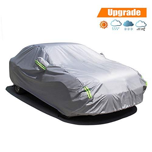 MATCC Copriauto Telo Copriauto Auto Impermeabile Pieghevole Anti UV Anti Pioggia Sole (440 * 180 * 160cm)