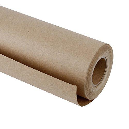 papierrolle - 30,5 Cm X 30 M - Natürliches Recyclingpapier, Ideal Für Kunsthandwerk, Kunst, Kleine Geschenkverpackungen, Verpackung, Post, Versand, Packgut Und Paket ()