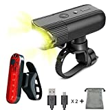 Bike Light Front Bicycle Torch Set, Ownmax USB Rechargeable Headlight 2000 mAh Power