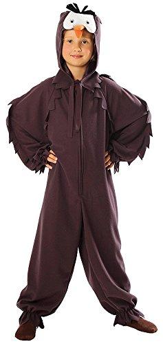 (Eulenkostüm für Kinder - komplettes hochwertiges Eulen Kostüm Kinder von Größe 98 bis 140 - Eule Kostüm für Jungen und Mädchen Fasching Karneval (110/116))