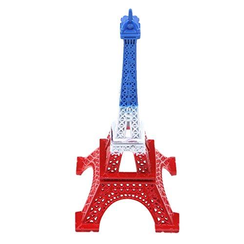 D DOLITY Eiffelturm Figurine Bronze Paris Eiffelturm Figurine Statue Office Home Dekor Antike - Blau Weiß Rot, 13cm