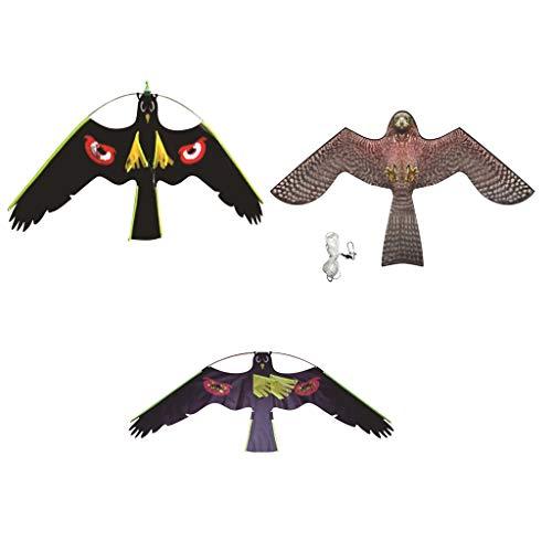 Fenteer 3Types Assorted Hawk Kite Owl Vogeljagd Lockvogel Abschreckende Repeller Garden Weed Pest Scarer - Garden Pest-repeller